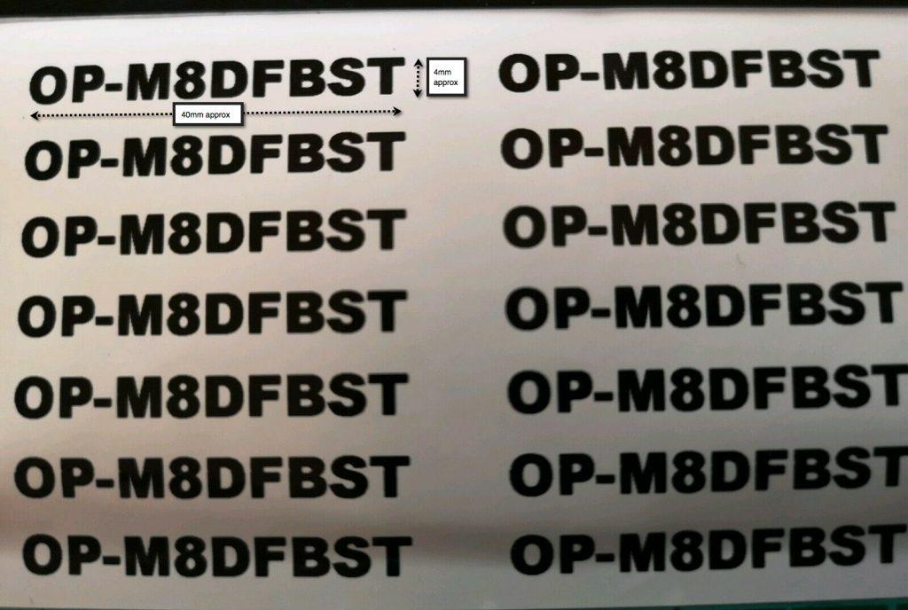 CAA Operator ID Stickers